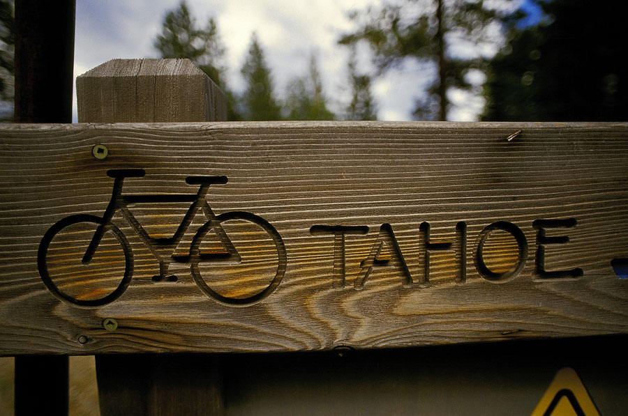 Trukee River bicycle sign (Day 23)