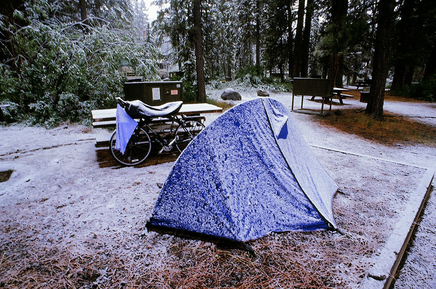 Two hours of snowfall at the start of Summer, Lake Tahoe (Day 24)