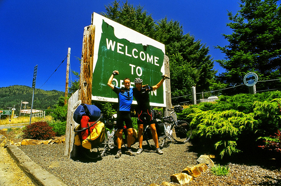 Dirk and I reach the Oregon border (Day 52)