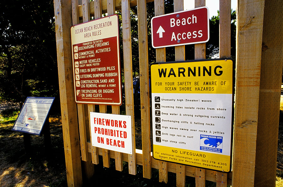 Rules and regulations at Nehalam Bay Beach (Day 57)