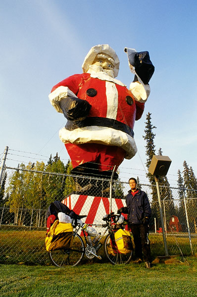 Santa, Stef and I, North Pole (Day 117)