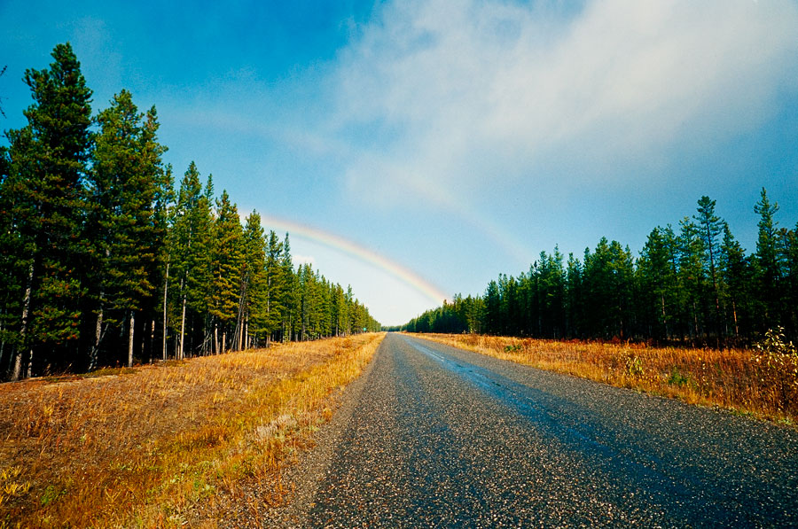 Double rainbow (hoping for no more rain), Cassiar Highway (Day 128)