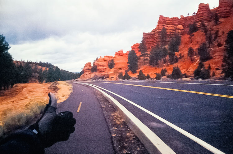 What more could a cyclist want; bicycle path through Red Canyon, Highway 12 (Day 164)