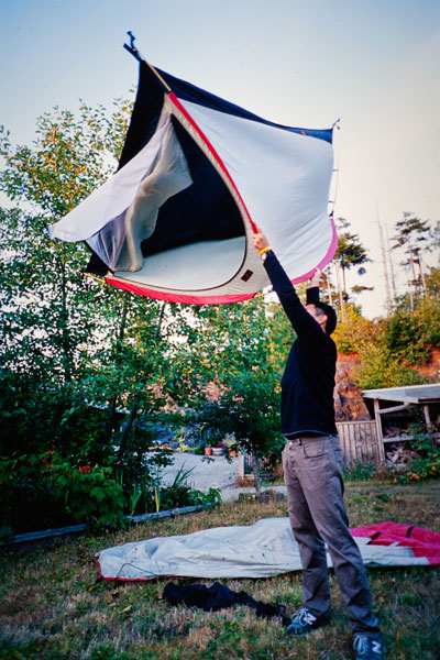 Tent cleaning, Tofino (Day 83)
