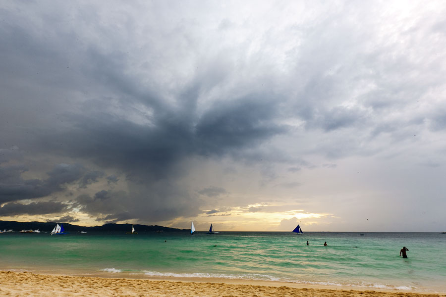 Boracay storm clouds gathering