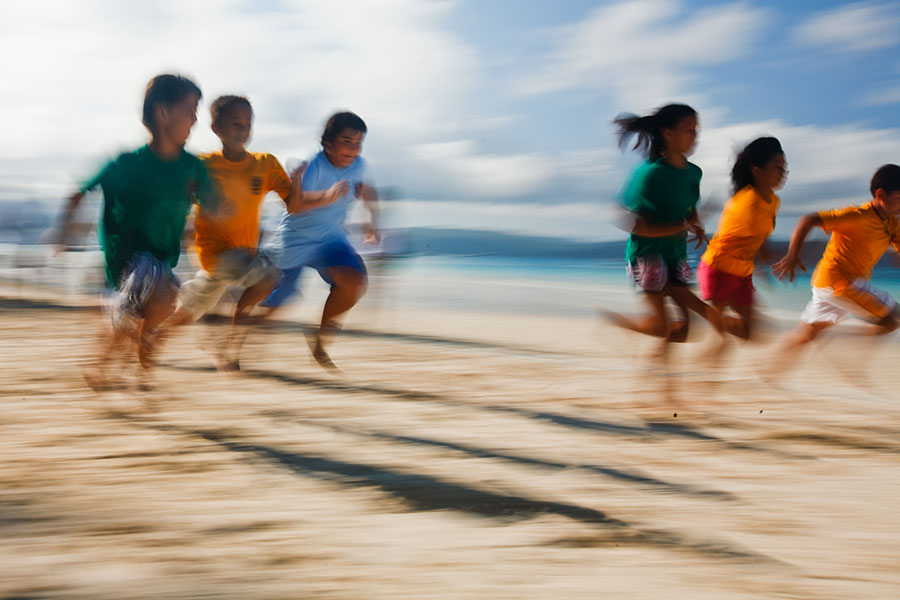 School athletics Boracay Beach style