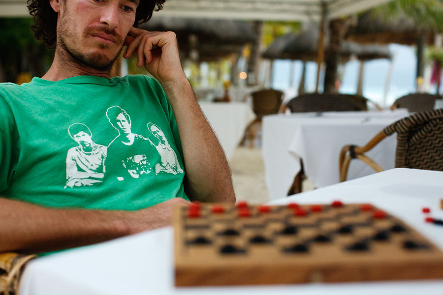 Checkers on Boracay Beach