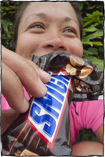 Bicycle Touring East Sussex - Snickers Bar