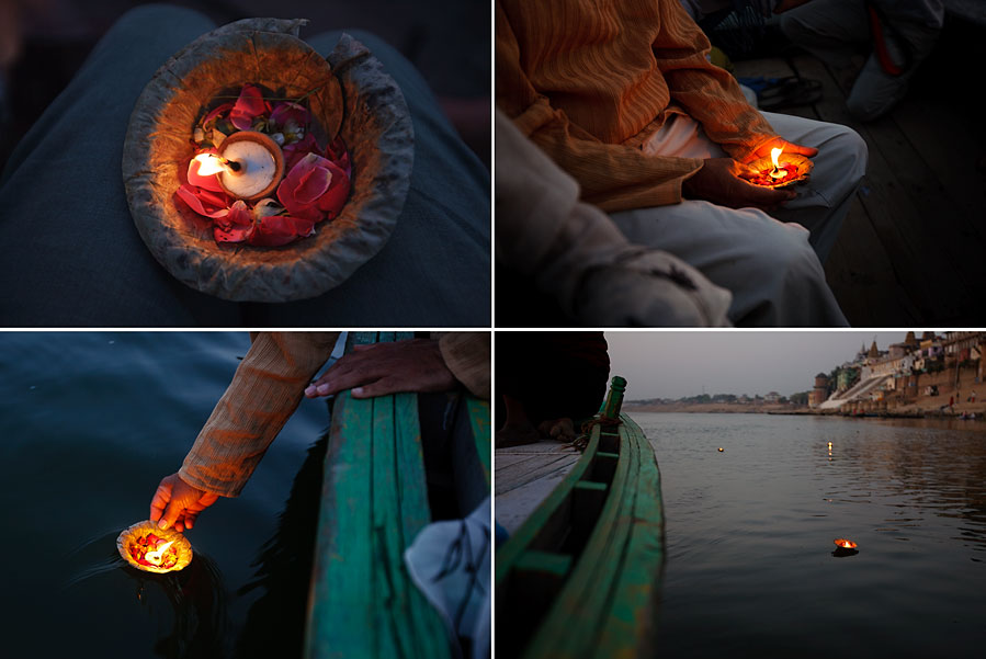 Sending candles down the Ganges