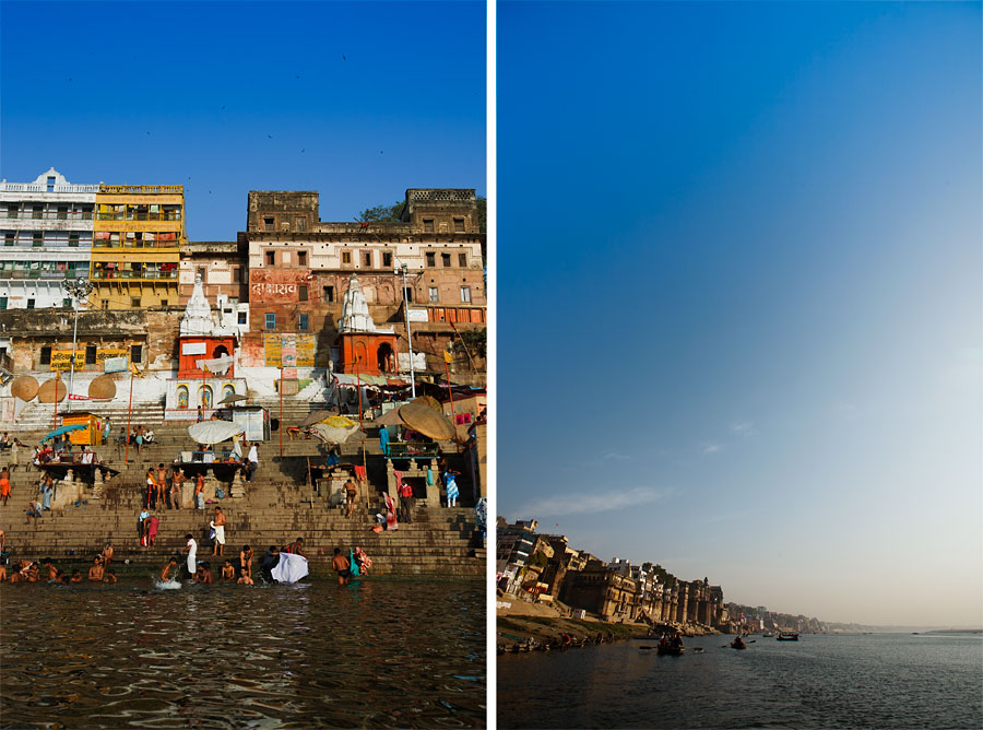 Views of Varanassi from the Ganges
