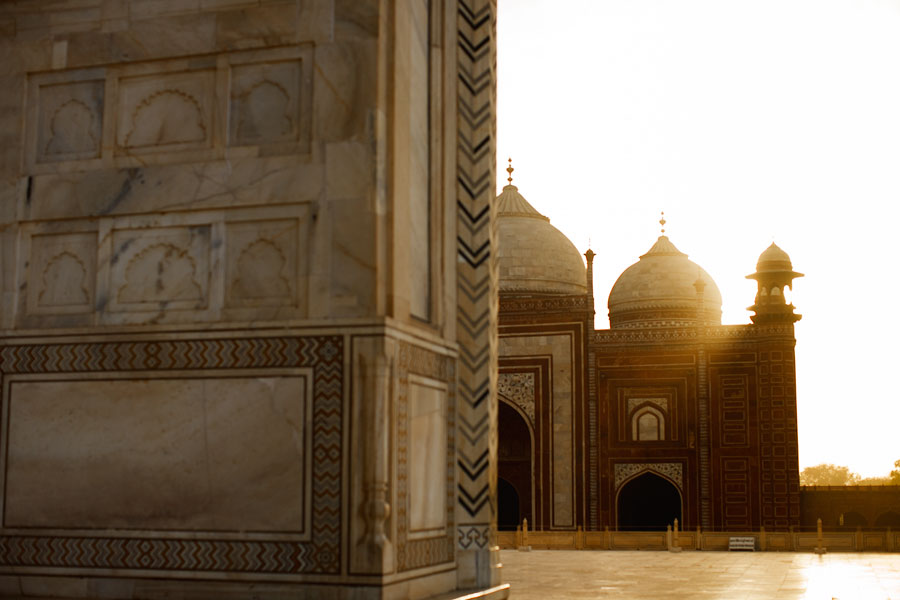 View of the Mosque from the Taj Mahal, India