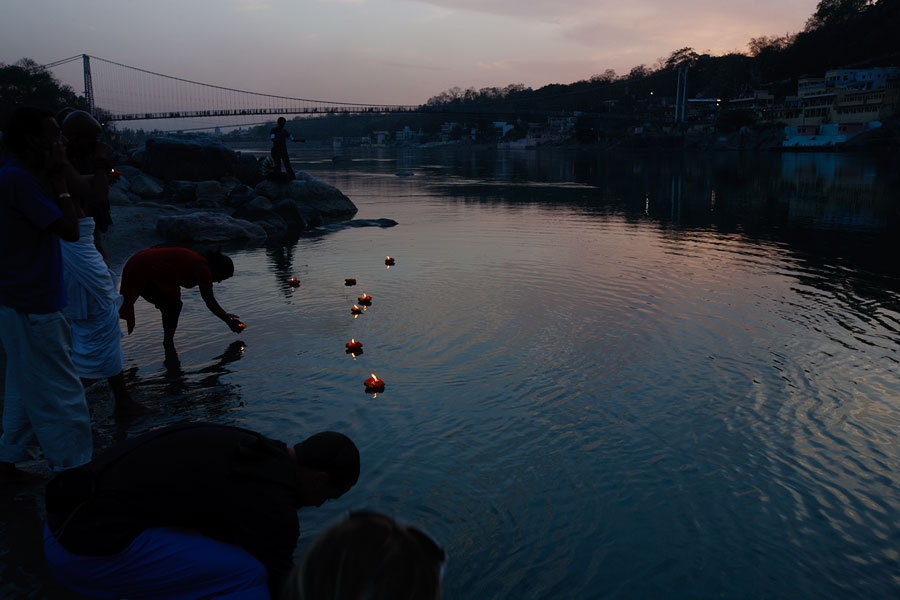 Rishikesh Ganges River - floating blessings