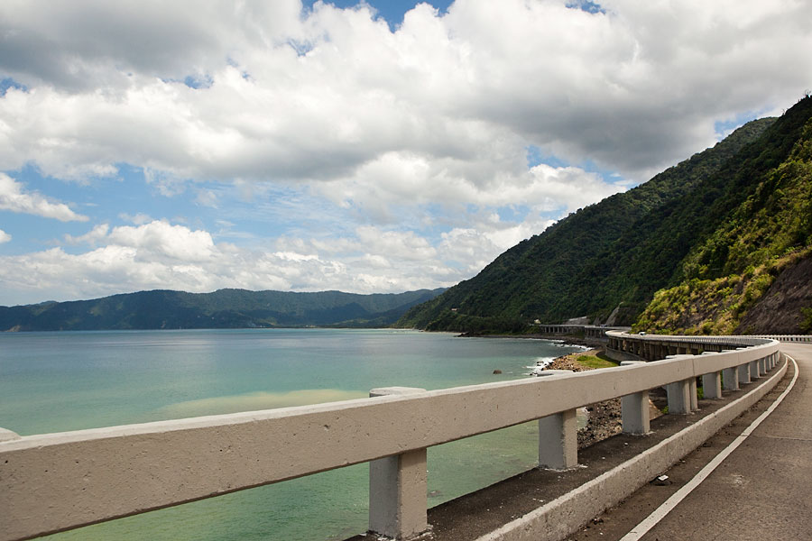 Along the Pan-Philippines coastal highway