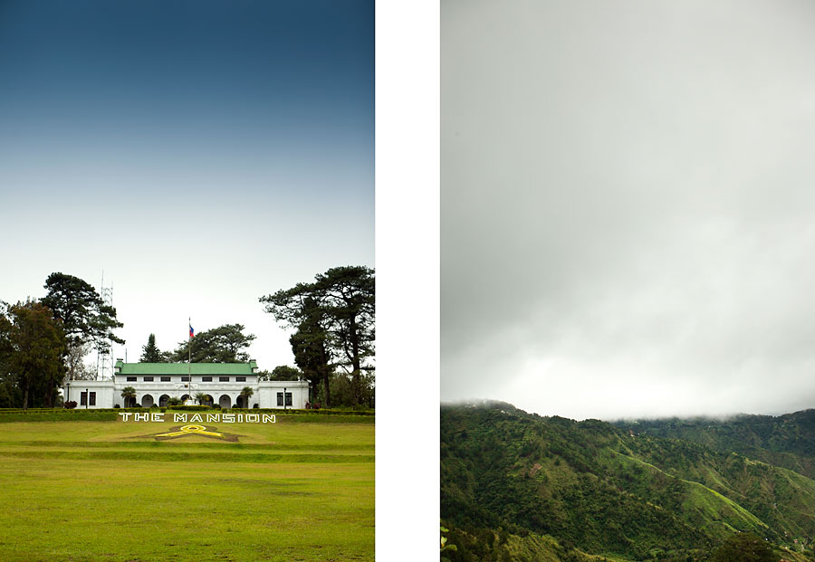 The Mansion and view from Mines Park in Baguio