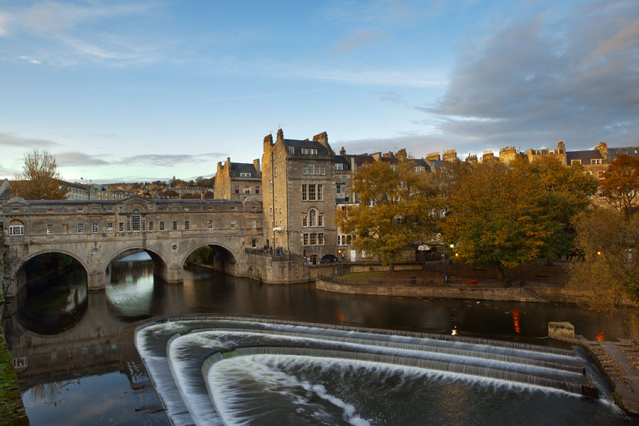 Puteney Bridge, Bath, taken from Grand Parade