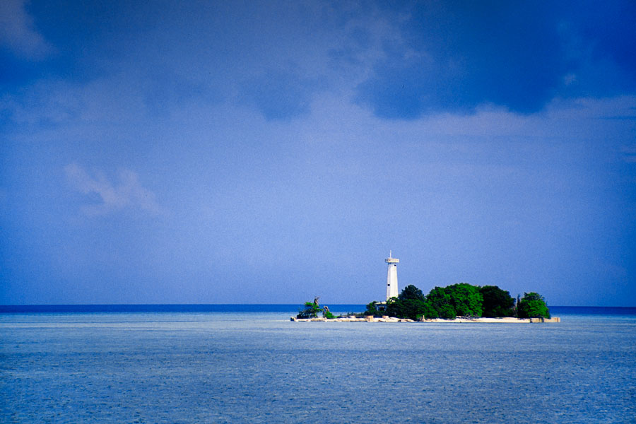 Lighthouse on the Tubbataha atoll