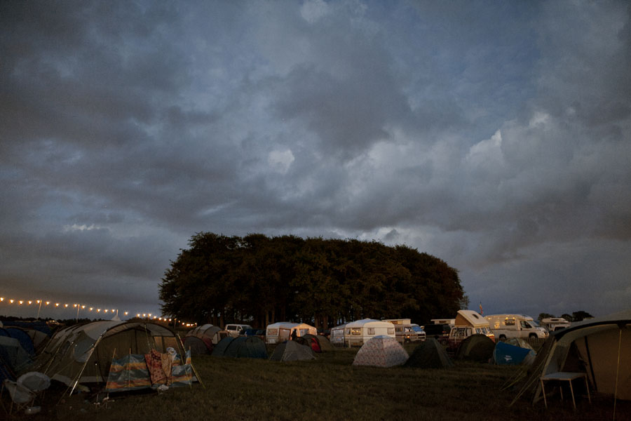 Campgrounds at the No Direction Home Festival