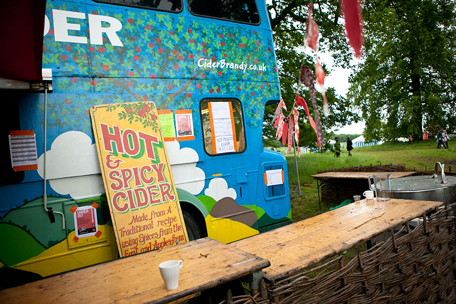 Cider bus from Somerset at the No Direction Home Festival