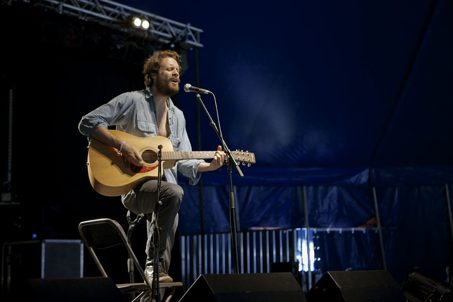 Father John Misty, aka Josh Tillman formerly of the Fleet Foxes, plays songs from his latest album Fear Fun at the No Direction Home Festival