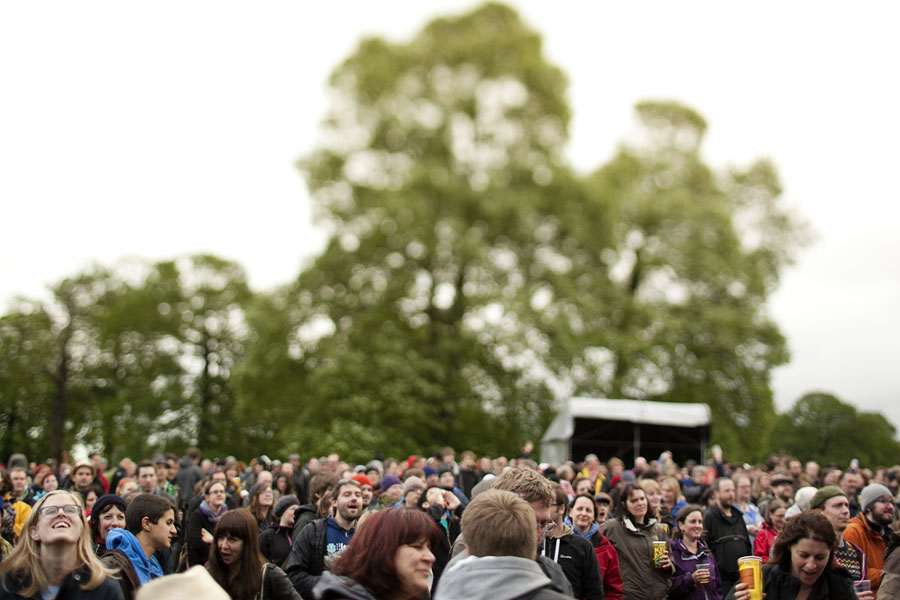 The crowd at the Lake Stage at the No Direction Home Festival
