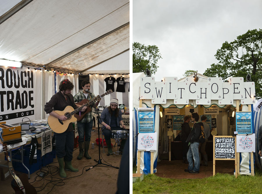 Live in-store performance at the Roughtrade tent and incredible music prints at the Switchopen tent at the No Direction Home Festival