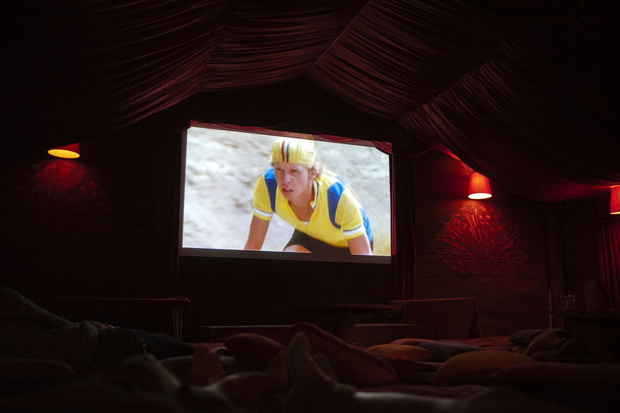 Watching Breaking Away at the Lost Picture Show Cinema at the No Direction Home Festival