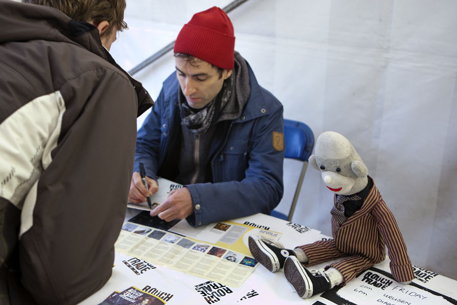 Andrew Bird in-store signing at the Rough Trade tent at the No Direction Home Festival