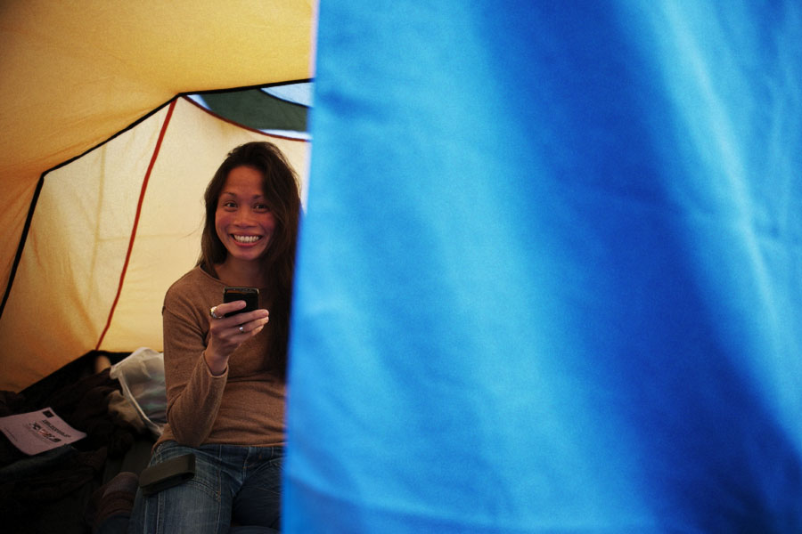 Camping at the No Direction Home Festival