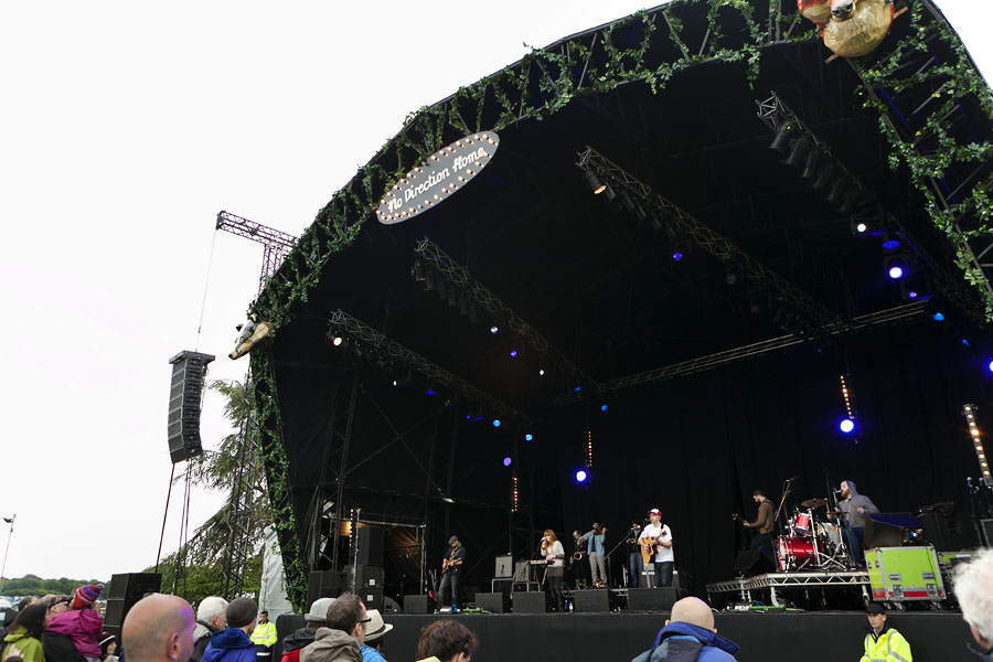 Diagrams performing live at the Lake stage at the No Direction Home Festival