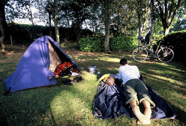 Bike touring and camping in France