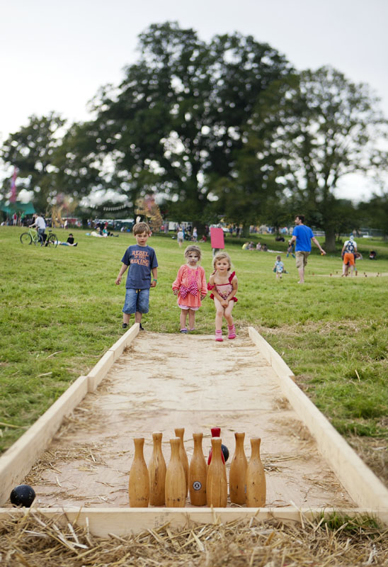 Ten pin bowling at Wilderness Festival
