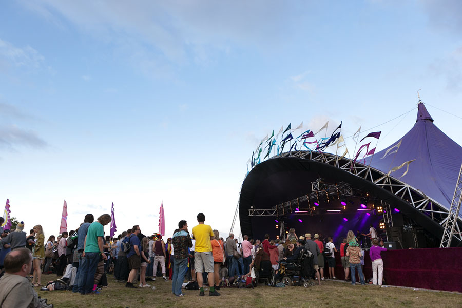 Main music stage at Wilderness Festival